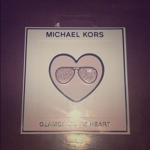 Michael Kors leather sticker glamorous heart
